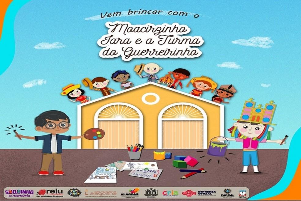 Arquivo Público lança conteúdo infantil para download durante isoamento em Alagoas — Foto: Divulgação