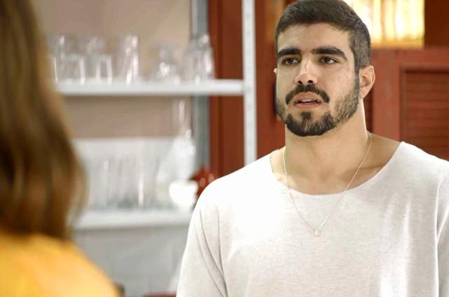 Caio Castro é Rock em 'A dona do pedaço' (Foto: Reprodução)