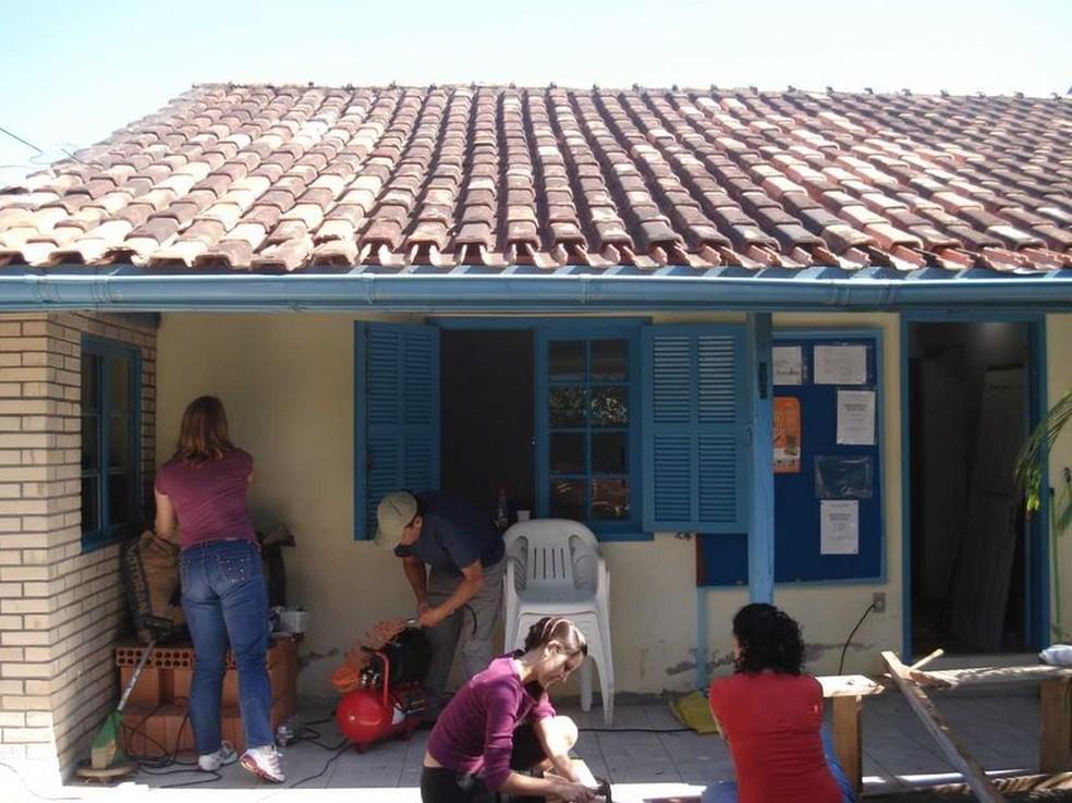 Casa Lar foi reformada por voluntários (Foto: Maurício dos Santos/Arquivo Pessoal)