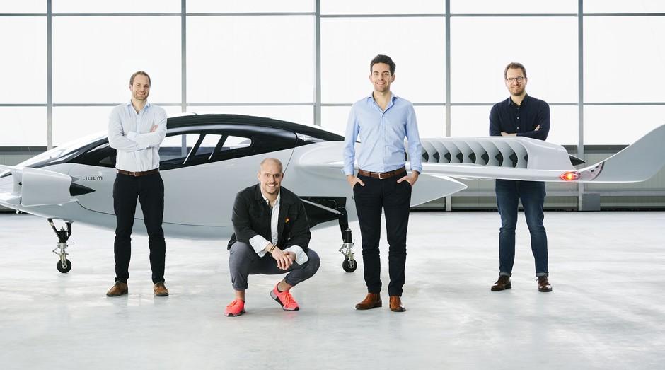 Sebastian Born, Patrick Nathen, Daniel Wiegand e Matthias Meiner, fundadores da Lilium (Foto: Divulgação)