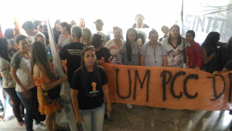 Docentes cobram reformulação do PCC  (Foto: Assessoria/Divulgação )