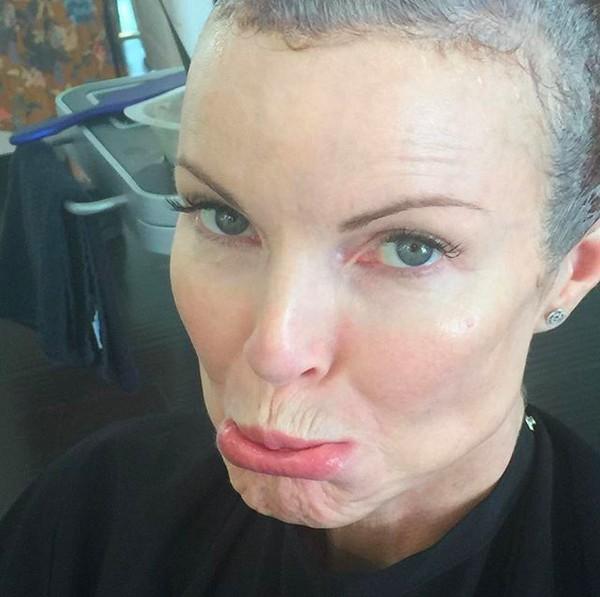 A atriz Marcia Cross em recuperação de seu tratamento contra um câncer (Foto: Instagram)
