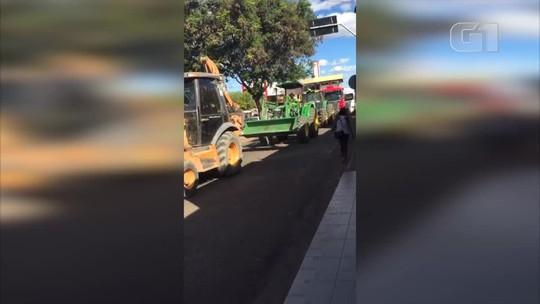 Caminhoneiros e produtores rurais fazem carreata no Piauí em protesto contra alta do combustível
