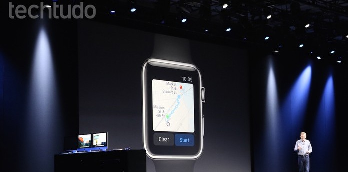 "O ""novo"" Apple Maps também funcionará com o Apple Watch (Foto: Fabrício Vitorino/TechTudo) (Foto: O ""novo"" Apple Maps também funcionará com o Apple Watch (Foto: Fabrício Vitorino/TechTudo))"