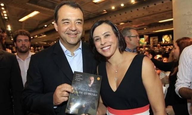 O ex-governador Sérgio Cabral e a esposa Adriana Ancelmo