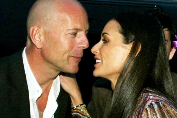 Os atores Bruce Willis e Demi Moore se divorciaram em 1999. Até hoje são amigos íntimos. (Foto: Getty Images)