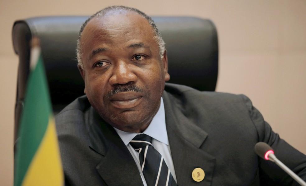 Presidente do Gabão, Ali Bongo Ondimba, em imagem de arquivo  — Foto: Tiksa Negeri/ Reuters