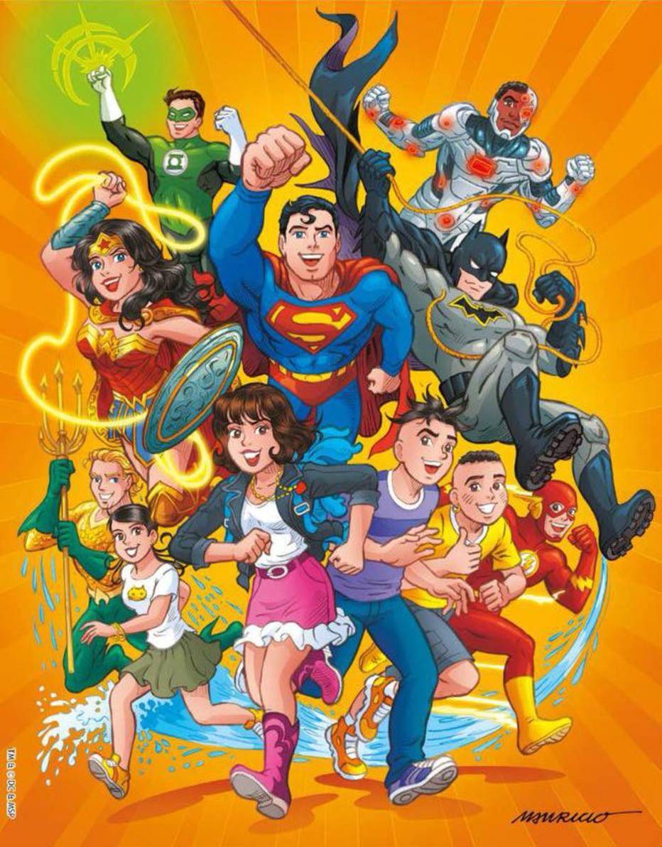 Turma da Mônica Jovem também terá histórias especiais com os super-herois (Foto: Divulgação)