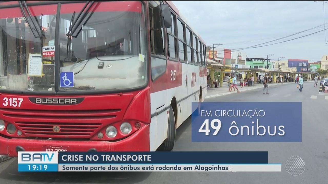Crise no transporte público de Alagoinhas já dura mais de um mês; confira