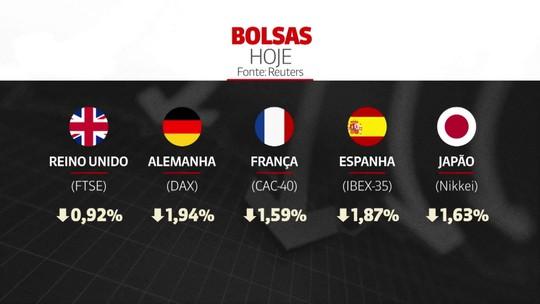 Bolsas europeias caem após taxação dos EUA a produtos mexicanos
