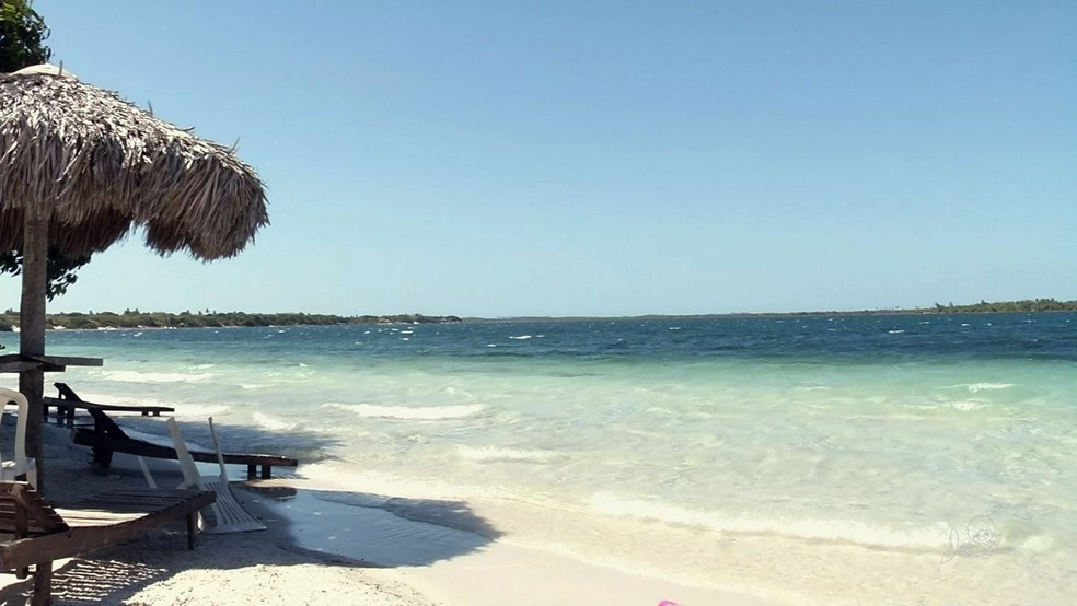 Praia de Jericoacoara, no Ceará — Foto: TVM/Reprodução