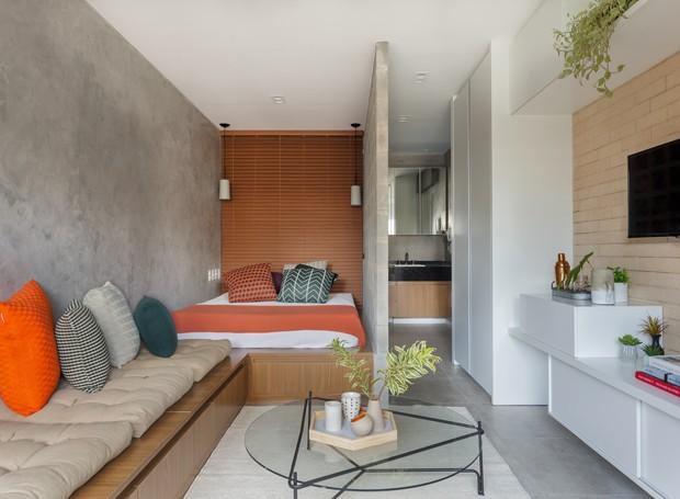 Apartamento de 27 m² tem soluções inteligentes para otimizar espaços