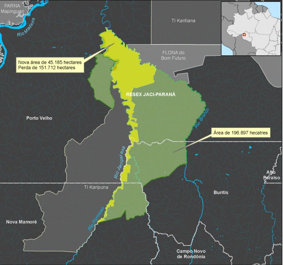 Resex Jaci-Paraná terá área reduzida em cerca de 150 mil hectares após aprovação — Foto: Reprodução/ISA