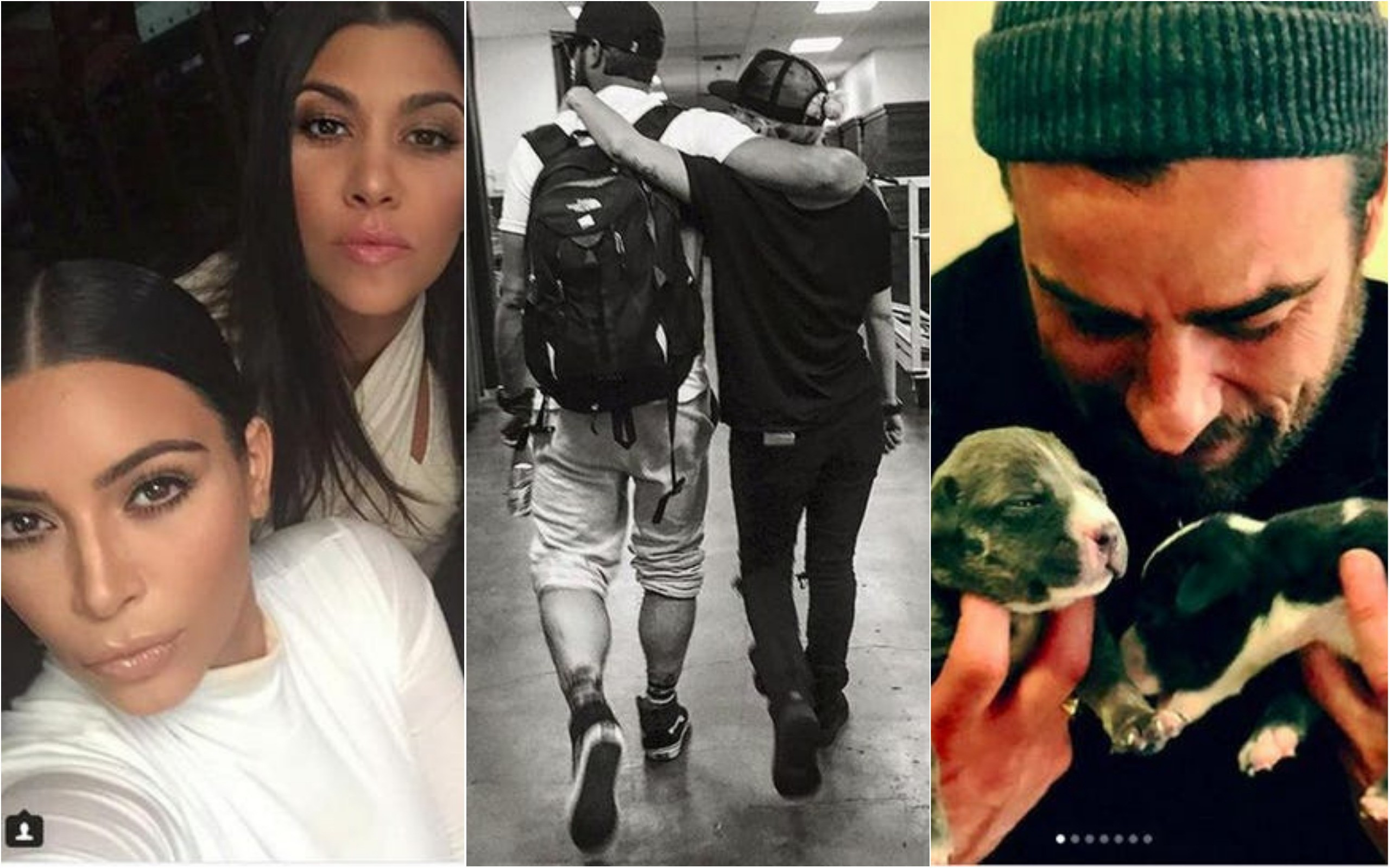 Kourtney Kardashian, Lady Gaga, Justin Theroux (Foto: Instagram)