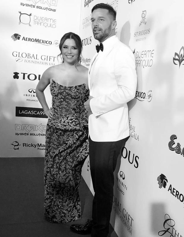 Eva Longoria e Ricky Martin (Foto: Reprodução)