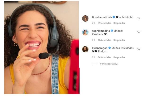 Livian Aragão, que morava no mesmo condomínio que Sasha, também desejou felicidades (Foto: Reprodução)