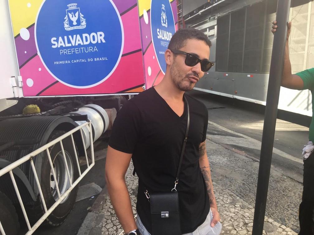 Carlinhos Maia no quarto dia de carnaval de Salvador — Foto: Leo Moreira/G1 BA