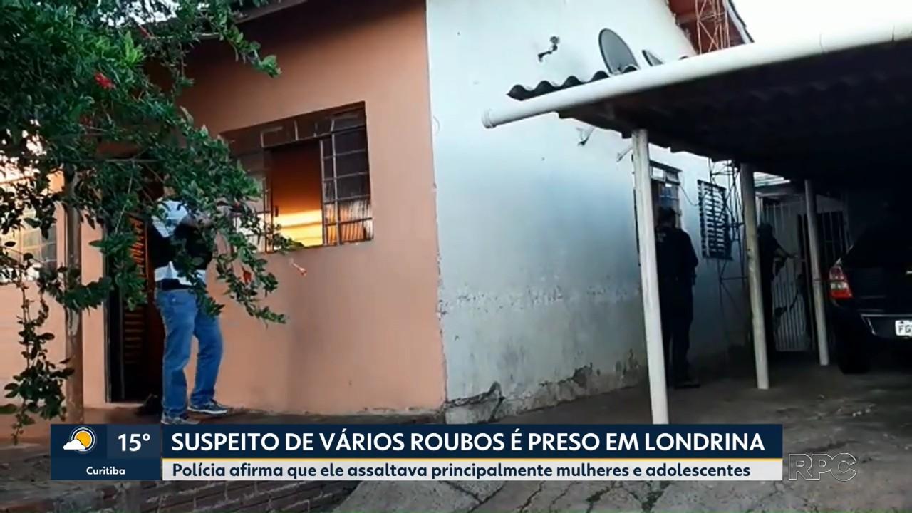Suspeito de vários roubos é preso em Londrina