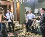 Grazi Massafera, Caio Paduan, Bianca Bin, Thiago Fragoso e o diretor André Felipe Binder  | Rede Globo / Paulo Belote