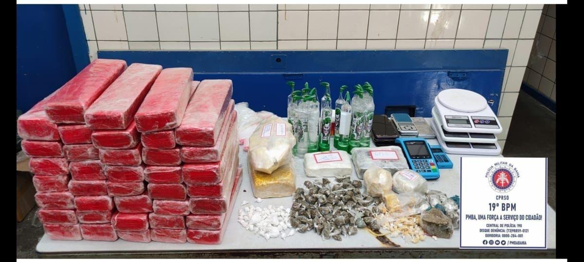 Homem é preso com 27 quilos de maconha em Jequié, no sudoeste da Bahia; suspeito estava em liberdade provisória