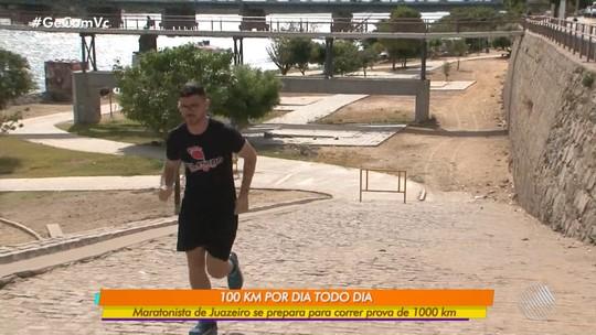 Juazeirense se prepara para maratona correndo 100Km todos os dias durantes dez dias