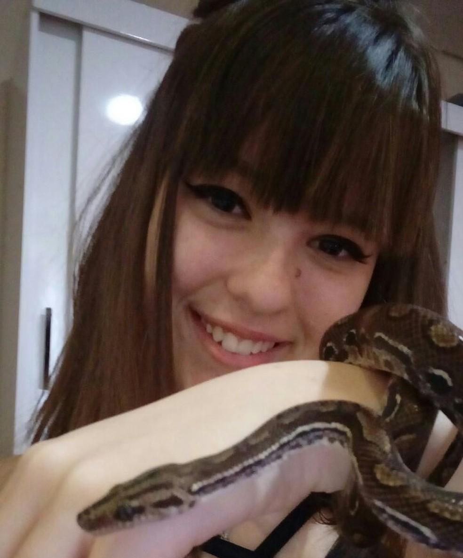 Leticia Matos disse que vai criar o animal e que pretende ser veterinária (Foto: Clécius Matos/Arquivo Pessoal)