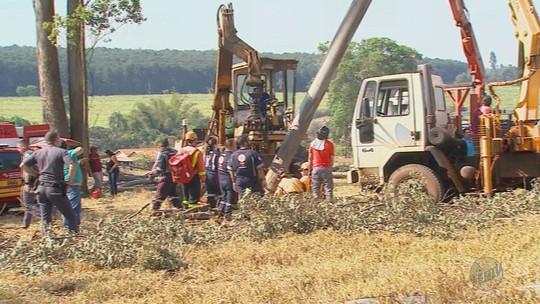 Lenhador é atingido por árvore de 3 toneladas e fica com as pernas presas ao tronco por 4h em Batatais