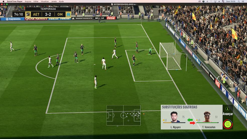 5773d48485 ... Use o novo sistema de substituições de Fifa 18 (Foto  Reprodução Murilo  Molina
