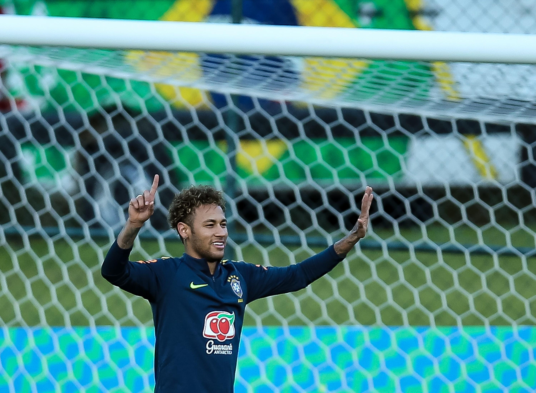Neymar durante treinamento da seleção brasileira na Granja Comary nesta semana, em Teresopolis (Foto: Getty Images)