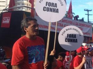 Ato Fora Cunha no Recife (Foto: Thays Estarque/G1)