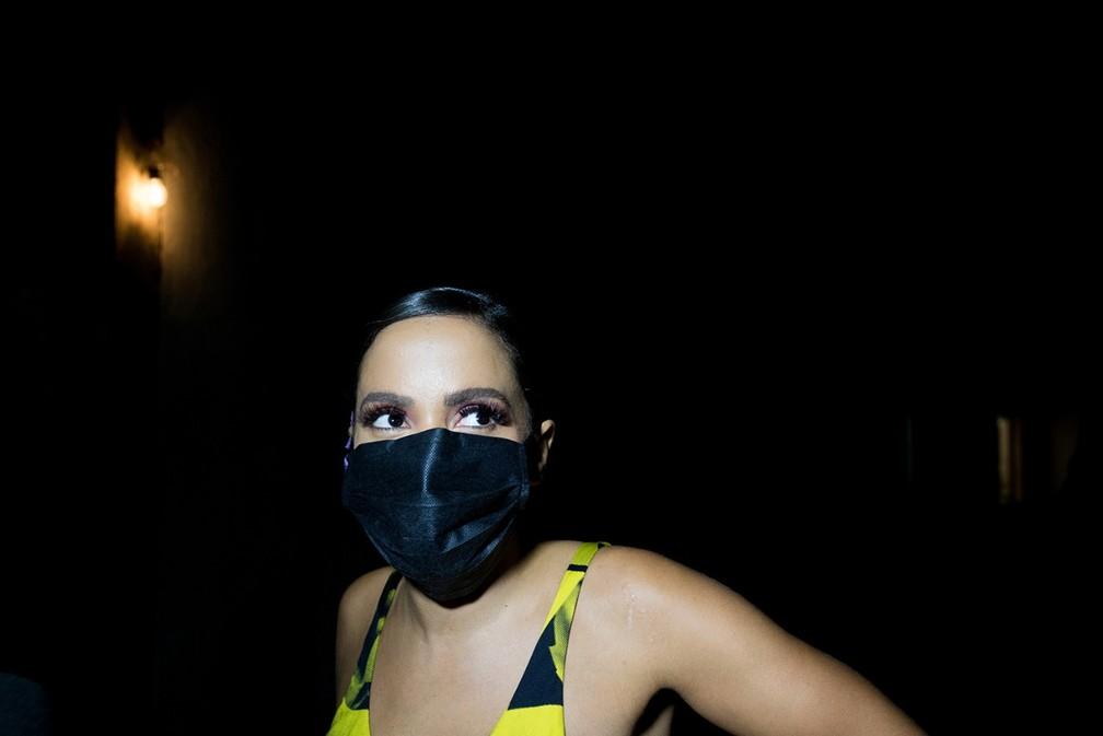 Anitta faz gravações em pontos turísticos de Salvador — Foto: Paula Froés / GOV BA