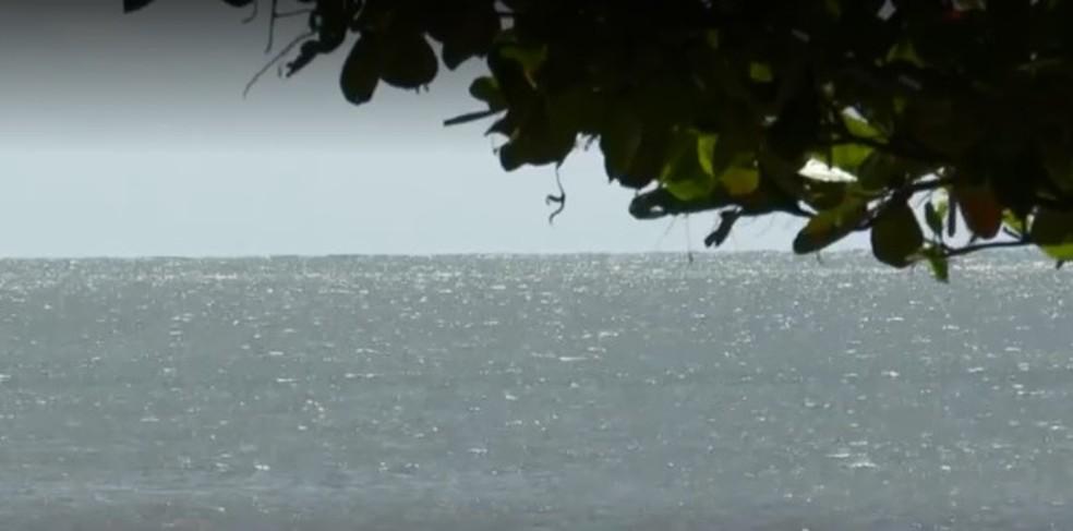 Alerta de mau tempo na Bahia é para região entre Ilhéus e Caravelas — Foto: Reprodução/ TV Santa Cruz