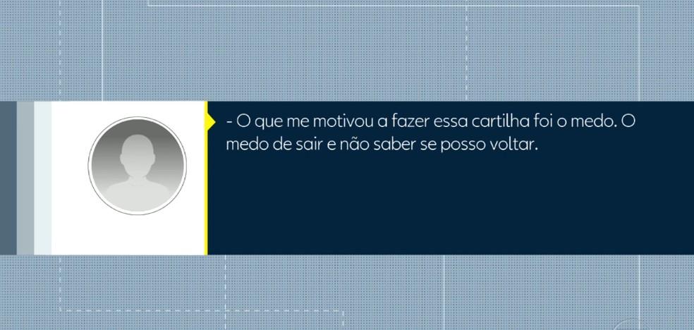 Morador da Maré relata medo em dia de operação da PM — Foto: Reprodução/TV Globo