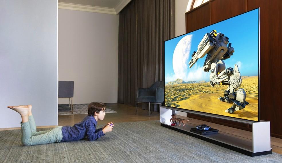 LG apresenta TV com inteligência artificial na CES 2020 — Foto: Divulgação