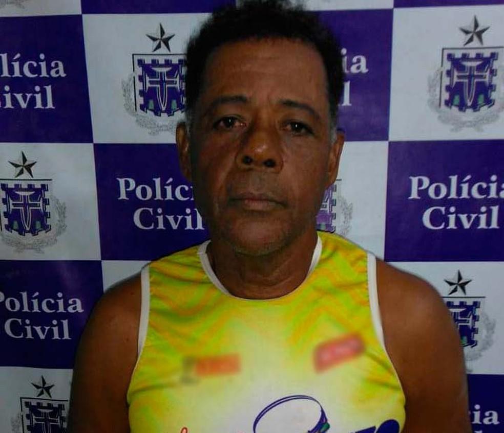 Reginaldo da Boa Morte está preso suspeito de estuprar e matar a mãe, em Valença (Foto: Divulgação/Policia Civil)