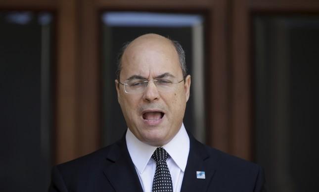 O governador Wilson Witzel no Palácio Laranjeiras