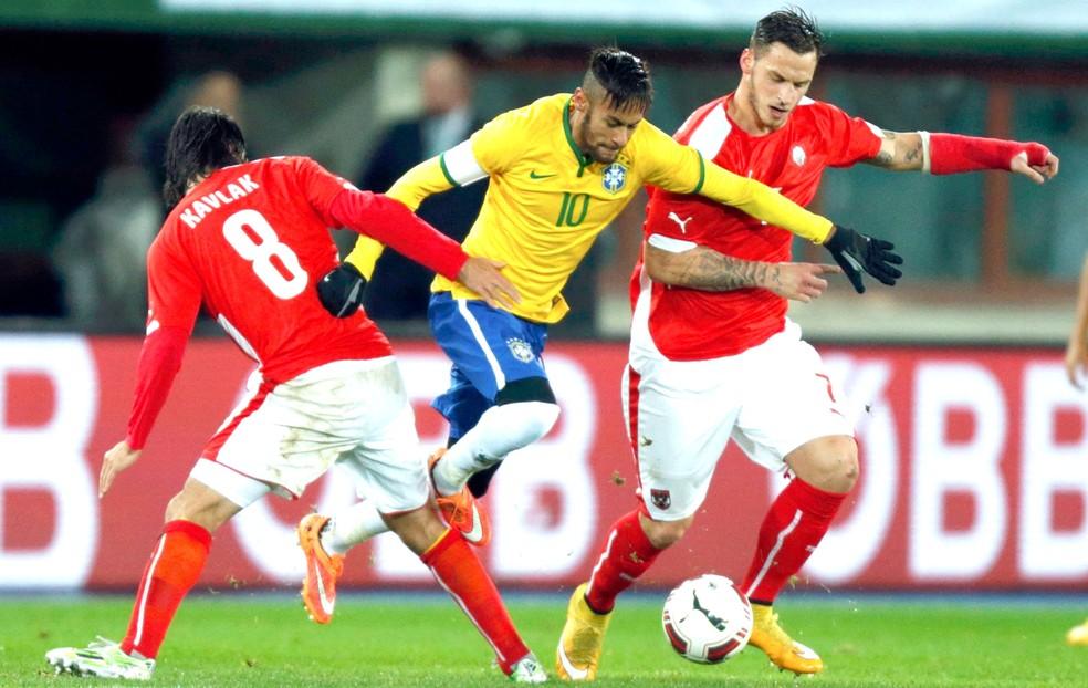 Último amistoso entre Brasil e Aústria foi em 2014: vitória da Seleção por 2 a 1 (Foto: Agência Reutes)
