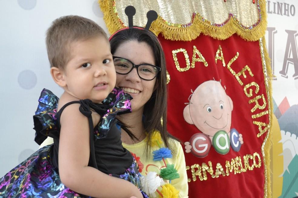 Bailinho do GAC animou Hospital Oswaldo Cruz, no Recife (Foto: Marcelo Barroso/Divulgação)