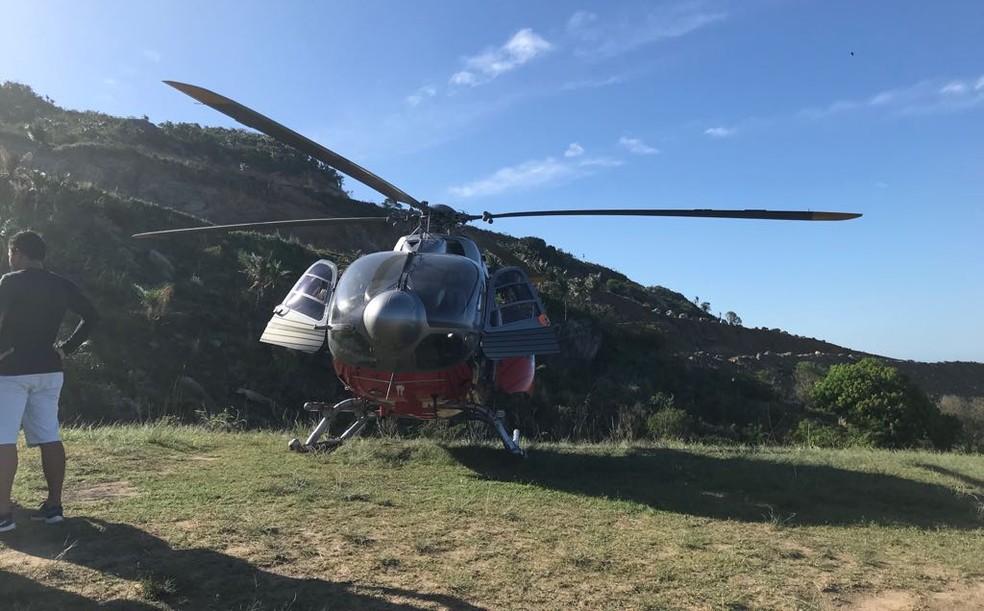 Profissionais constaram o óbito no local após chegada da aeronave da Ciopaer (Foto: Marcus Costa/Ciopaer)