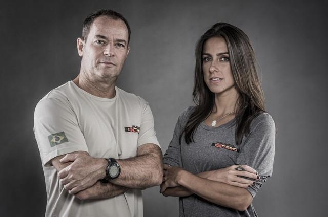 Clayton Conservani e Carol Barcellos (Foto: Globo/João Cotta)