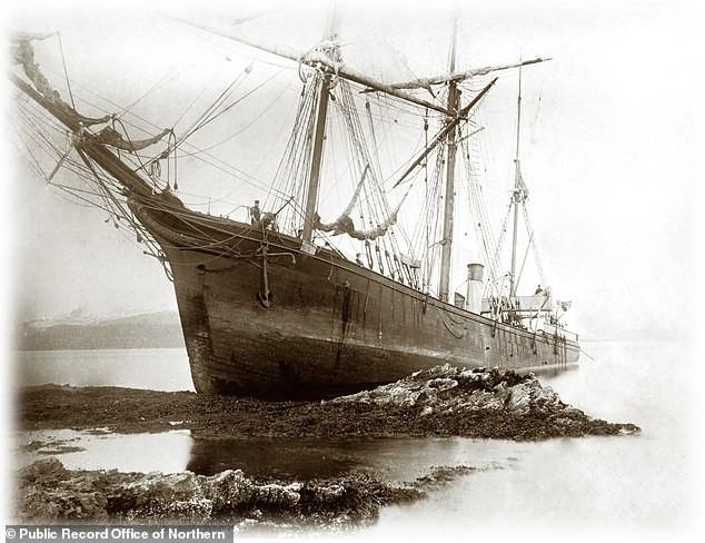Restos do navio Eira, capitaneado pelo britânico Benjamin Leight Smith, foram encontrados por cientistas russos (Foto: Reprodução Public Record Office of Northern Ireland (PRONI))