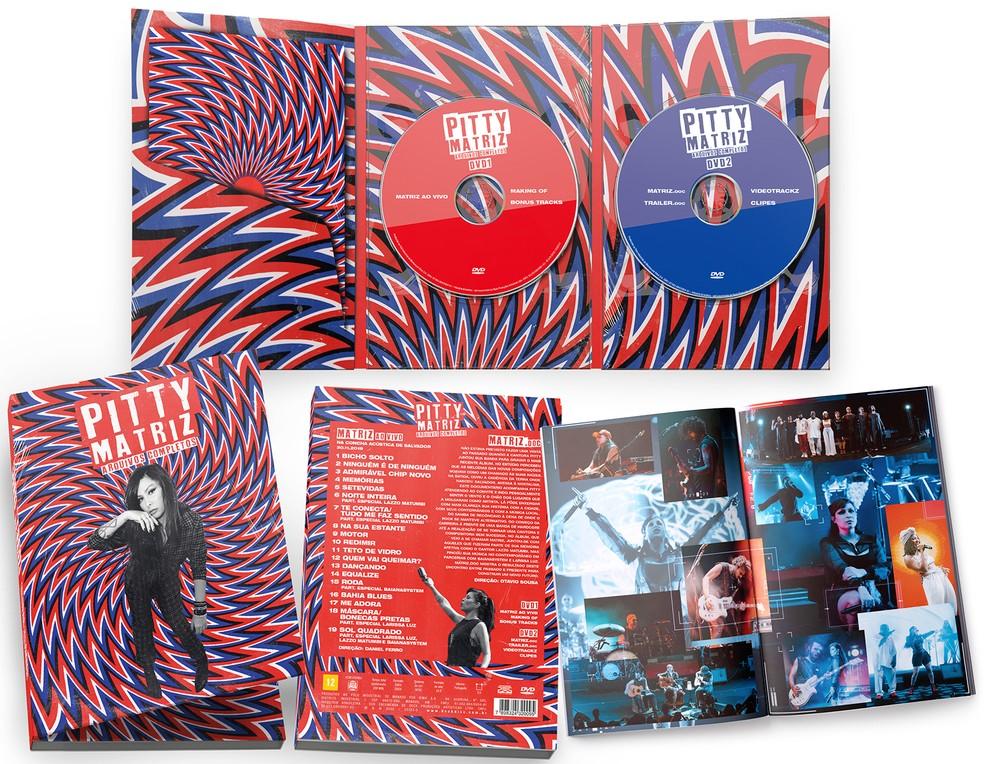 Capa, contracapa e encarte do DVD 'Matriz – Arquivos completos', de Pitty — Foto: Divulgação
