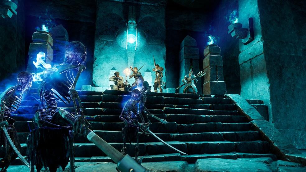 Participe de aventuras em grupos de até 5 jogadores nas Expedições — Foto: Divulgação/Amazon Studios