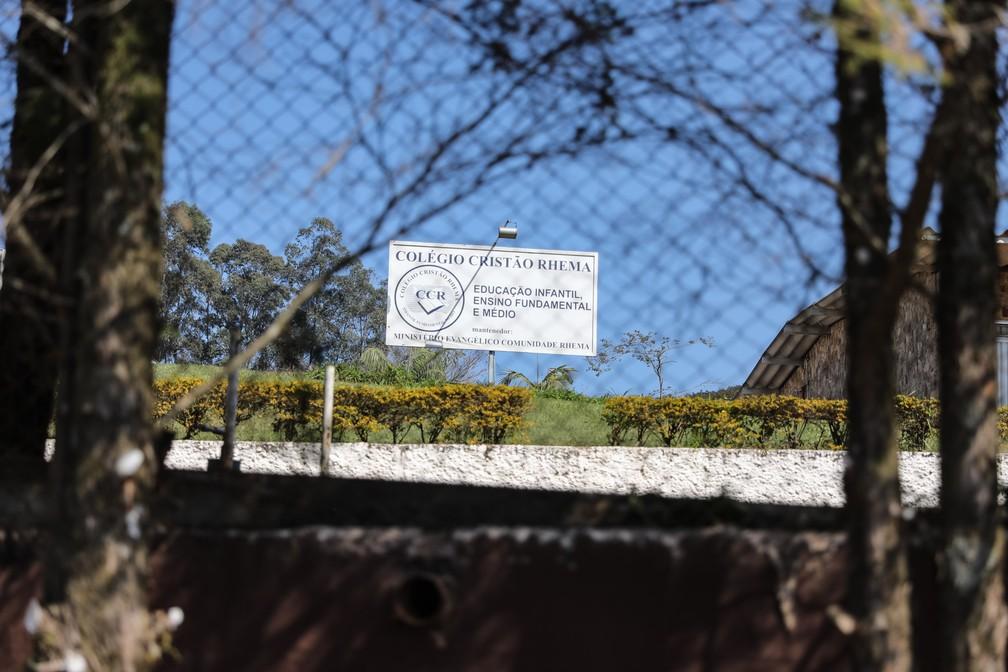 Colégio Cristão Rhema é mantido por igreja em Franco da Rocha, na Grande São Paulo (Foto: Fábio Tito/G1)
