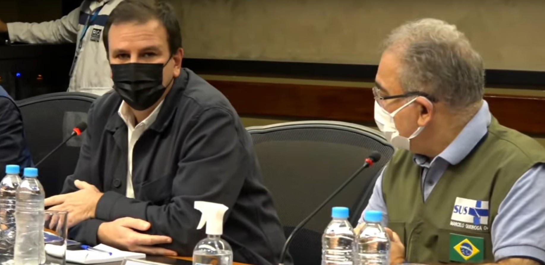 Marcelo Queiroga acompanha divulgação do Boletim Epidemiológico do Rio