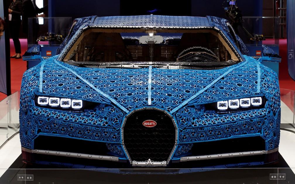 Bugatti Chiron feito com mais de 1 milhão de peças de Lego â?? Foto: Benoit Tessier/Reuters