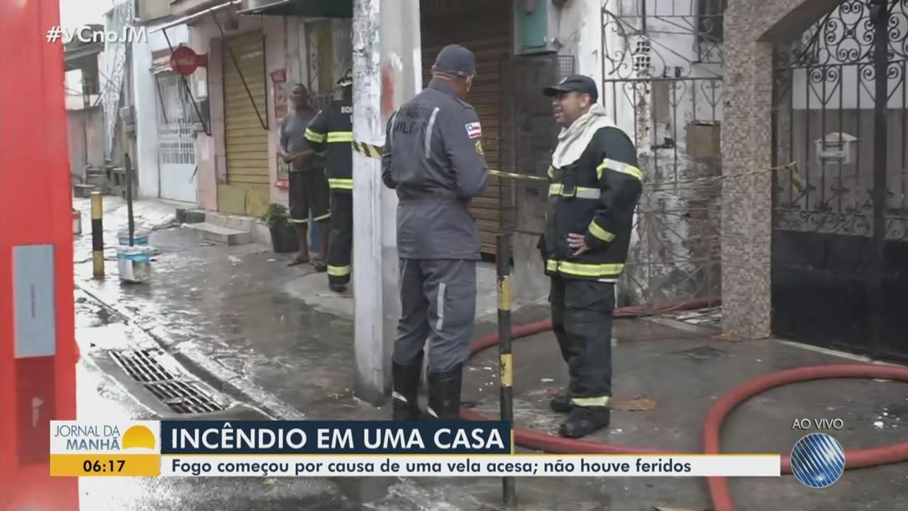 Incêndio atinge casa no bairro da Federação, em Salvador; não houve feridos