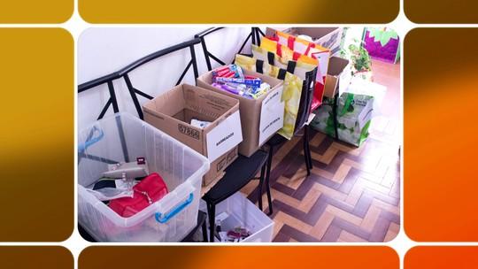 ONG distribui miniaturas de kit de higiene