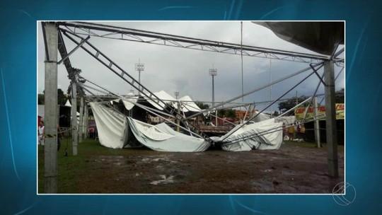 Chuvas e ventos causam estragos em Arantina e São João del Rei