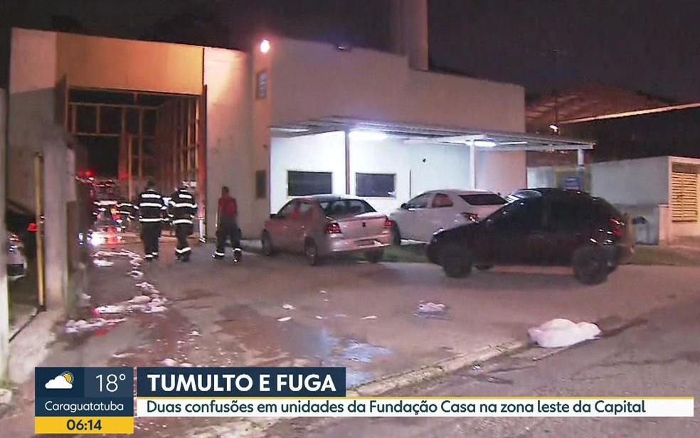 Internos provocam tumulto em duas unidades da capital paulista (Foto: Reprodução TV Globo)